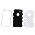 "Hybrid 3-in-1 Diamond Rhinestone Protective PC + Silicone Case for IPHONE 6 4.7"" - White +Black"