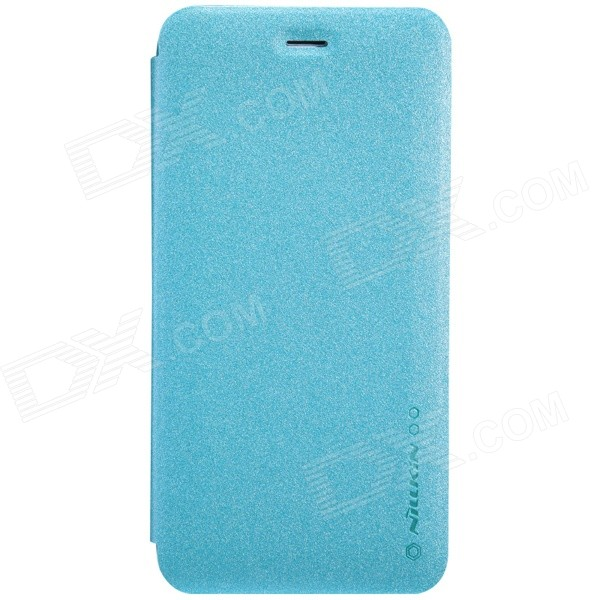 NILLKIN Star Series Protective PU Leather + PC Case Cover for IPHONE 6 5.5 Plug - Light Blue nillkin star series protective case for moto g2 pink