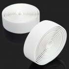 NUCKILY R007 Bike Bicycle PU Handlebar Tape Belt Wrap - White