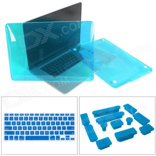 Mr.northjoe Crystal Hard Case + Keyboard Cover + Anti-dust Plug Set for RETINA MACBOOK PRO 13.3