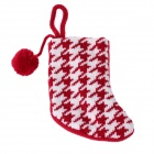 Patterned Cute Wool Christmas Sock - Red + White
