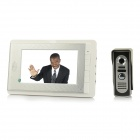 "V70C-M2 7"" TFT LCD Video Door Phone - White + Silver (US Plug)"