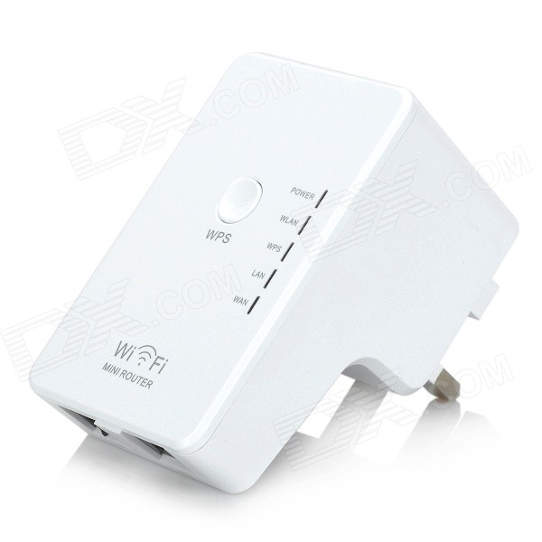 2.4GHz 300Mbps Wireless-N AP Wall-Plug Mini Router - White (UK Plug)