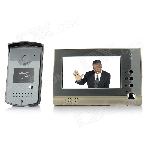 "V80-ID 7"" TFT LCD Video Door Phone - Champagne (US Plug)"