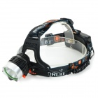 BORUiT RJ-1188 1000lm 3-Mode White Light Headlamp Bicycle Light - Black (2 x 18650)