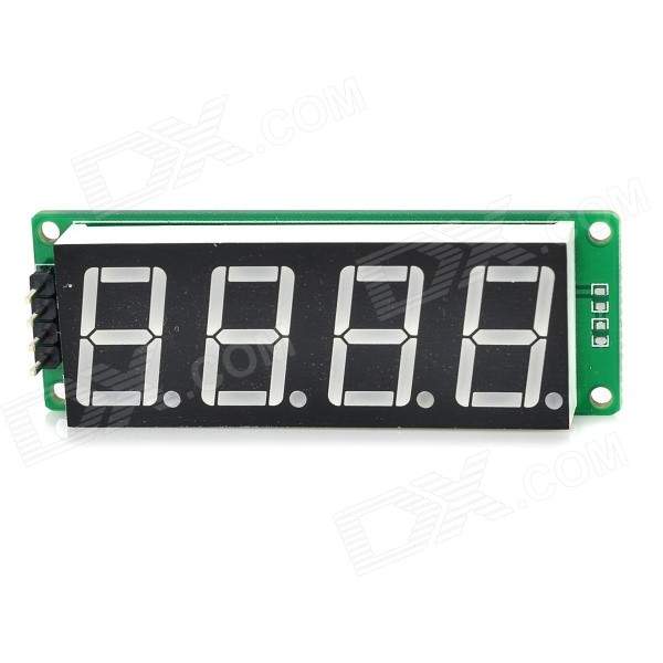 4-digit 0.56 Red Light Digital Display Module w/ IIC - Green + Black + White зажимы apex conversion kit black