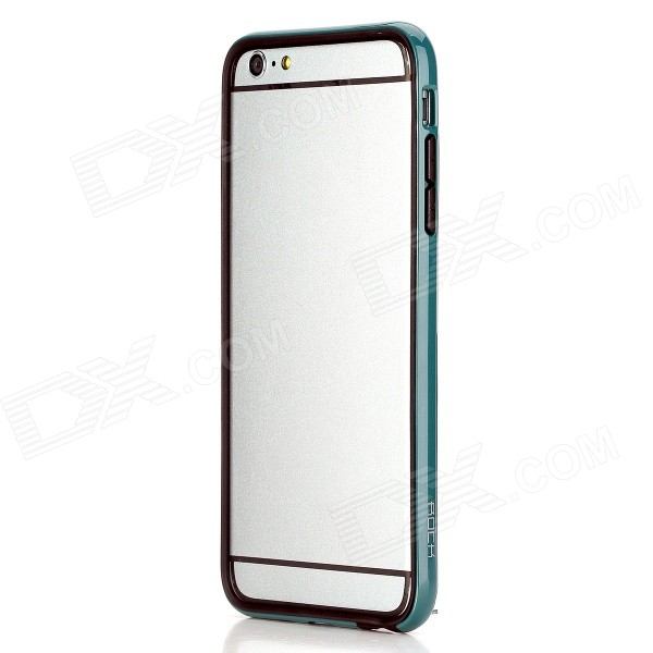 ROCK Protective TPU + PC Bumper Frame Case for IPHONE 6 Plus 5.5 - Blue Green + Black protective tpu   pc bumper frame for lg