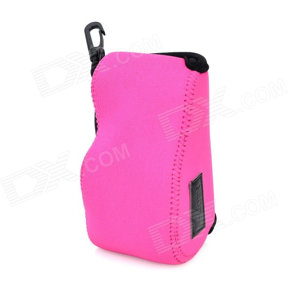 NEX-S Protective Soft Camera Bag w/ Closure for Sony NEX5T / NEX5R / NEX3N - Deep Pink + Black l22 protective nylon carrying bag for sony nex 7n ne 5n nex f3 black blue