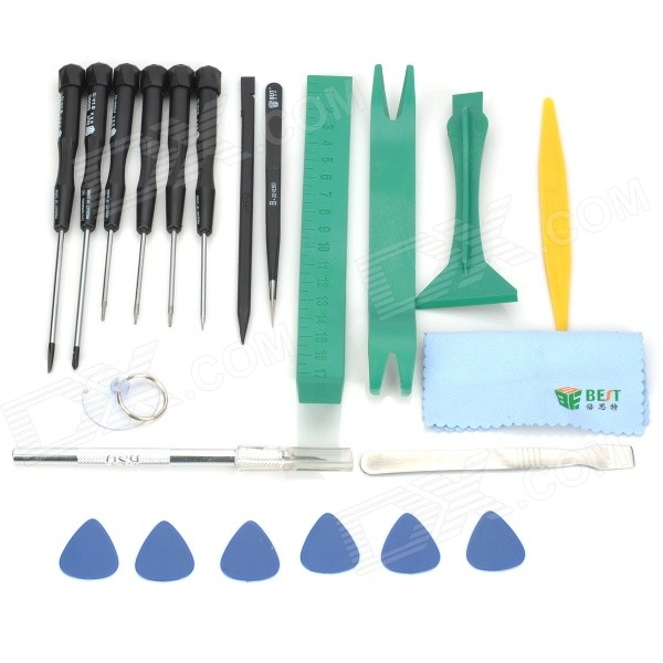 BEST BST-112 Multi-Function Repair Tools Disassemble Kit for IPHONE / Samsung - Black + Green South Bend Б.у поиск