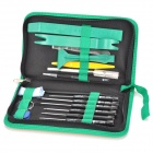 BEST BST-112 Multi-Function Repair Tools Disassemble Kit for IPHONE / Samsung - Black + Green
