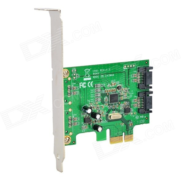 PCI-E to SATA 3.0 SSD Expansion Board Module - Green + Black simcom 5360 module 3g modem bulk sms sending and receiving simcom 3g module support imei change