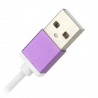 USB 2.0 Male to Micro USB Male Data Charging Cable for Samsung - Purple + White (1m)