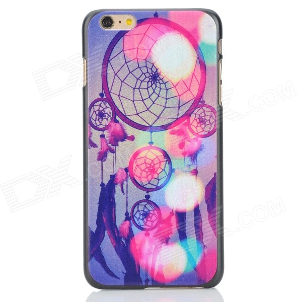 Colorful Dreamcatcher Pattern Plastic Back Case for IPHONE 6 PLUS - Black + Deep Pink