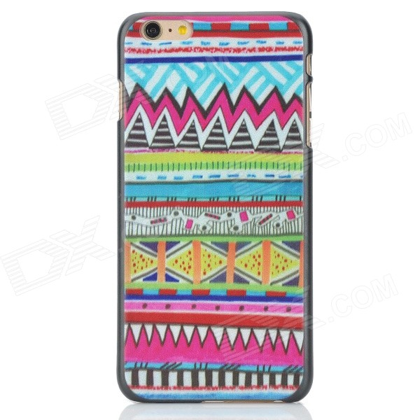 Painted Pattern Stylish Plastic Back Case for IPHONE 6 PLUS - Deep Pink + Blue mercury goospery blue moon magnetic leather case for iphone 6s plus 6 plus dark blue