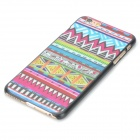 Painted Pattern Stylish Plastic Back Case for IPHONE 6 PLUS - Deep Pink + Blue