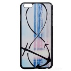 Buy Seawater + Anchor Pattern Stylish Plastic Back Case IPHONE 6 PLUS - Black Blue