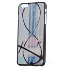 Seawater + Anchor Pattern Stylish Plastic Back Case for IPHONE 6 PLUS - Black + Blue