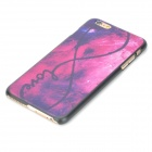 """8"" Pattern Stylish Plastic Back Case for IPHONE 6 PLUS - Black + Deep Pink"