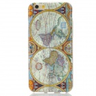 "Retro Map of the Earth Pattern TPU Back Case for IPHONE 6 4.7"" - White + Yellow"