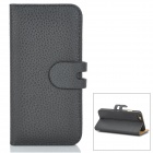 "Removable Magnetic Flip-Open Case w/ Stand / Card Slot for IPHONE 6 4.7"" - Black"