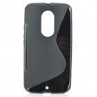 """S""-Pattern Protective TPU Back Case for Moto X+1 - Black"