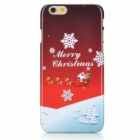 "Christmas Themed Pattern PC Back Case for IPHONE 6 4.7"" - Red + White"