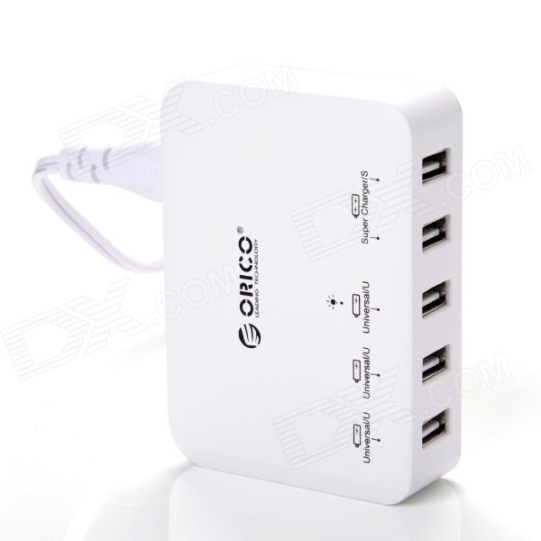 ORICO DCAP-5S-WH 5-Port USB 40W Smart Super Charger for iPhone / iPad / Samsung - White (US Plug) sexy one piece swim suits plavky girls bikinis women woman plus size swimwear suit lady underwire push up skirt belt upper