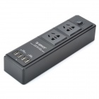 ORICO HPC-2A4U-BK 4-Port USB Charger with Two 3-Pin Power Socket - Black (US Plug)