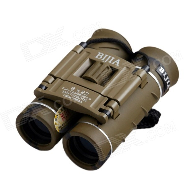 BIJIA 8X22 8x Magnification Night Vision Binoculars HD High-Power Telescope - Camouflage