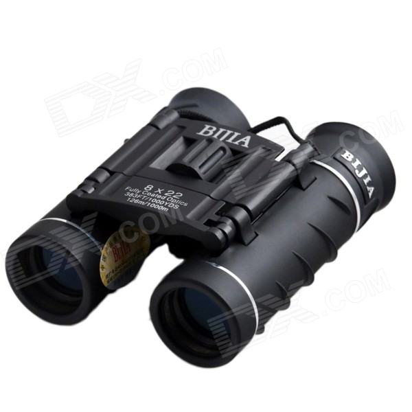 BIJIA 8X22 8x Magnification Night Vision Binoculars HD High-Power Telescope - Black
