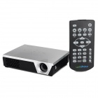 WeShow V3 200lm 1280 x 800 RGB 3-Color DLP HD Mini 3D Home Projector w/ HDMI / USB / Audio - Silver