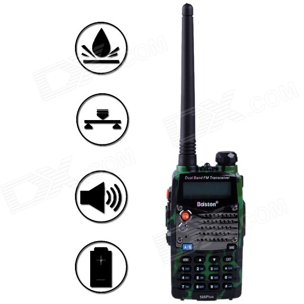 Baiston 588Plus 8W Two-Way-Radio Dual Band UHF / VHF 136 ~ 174/400 ~ 470MHz Walkie Talkie Transceiver