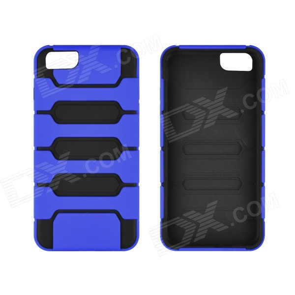Angibabe 2-in-1 Protective TPU + PC Back Case for IPHONE 6 4.7 - Blue angibabe 2 in 1 protective tpu pc back case for iphone 6 4 7 blue