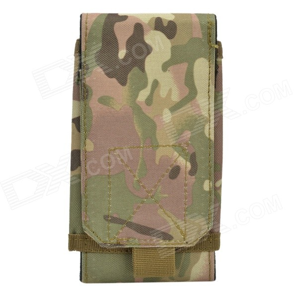 "Fashionable Waterproof Mobile Carrying Bag / Pouch for 5.5"" iPhone 6 Plus + More - Camouflage"