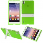 Buy Hat-Prince Protective TPU Back Case Stand Huawei Ascend P7 - Green