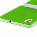 Hat-Prince Protective TPU Back Case Stand for Huawei Ascend P7 - Green