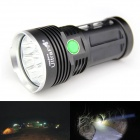 UltraFire 8XT6 8-LED 5000lm 5-Mode White Light Flashlight w/ Strap - Black (4 x 18650)