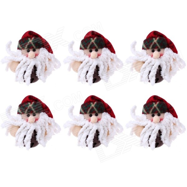Santa Claus Doll Style Small Christmas Bells Decorations for Christmas Tree - Red + White (6 PCS)  sc 1 st  DealeXtreme & Santa Claus Doll Style Small Christmas Bells Decorations for ...