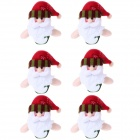 Father Christmas Bells Hang Adorn - Red + White + Green (6 PCS)