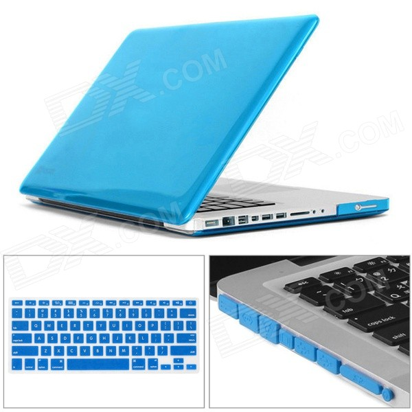 Mr.northjoe Ultra Slim Crystal Hard Case + Keyboard Cover + Anti-dust Plug Set for MACBOOK PRO 13.3