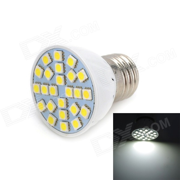 Marsing E27 5W 400lm 6000K 5050 SMD LED White Light Lamp - White (AC 220~240V) marsing g9 3 5w 350lm 6500k 30 5050 smd led white light corn lamp white yellow ac 220 240v