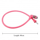 ZOLI Universal 4 -Digit Security Anti-theft Plastic Bicycle Lock - Deep Pink (80cm)