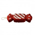 E1RC Christmas Hand-Painted Candies Decorations - Red + White (2 PCS)