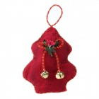 Christmas Lint Hanging Decorative Tree - Red