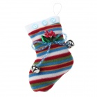 Christmas Hanging Decoration Shoe - Red + Green + White + Blue