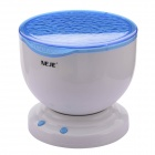 NEJE Ocean Wave Projector Lamp w/ MP3 Speaker / LED Night Light - White + Blue