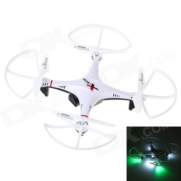 L6039 Mini 2.4GHz 4-CH 6-Axis R/C Quadcopter w/ 300KP Camera / Gyro / LED Light - White + Red