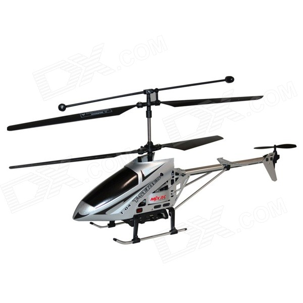 CPTCAM Children's 6-CH 27MHz Remote Control Helicopter Toy w/ Gyro - Black + Silver