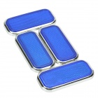 Hailis HL-6021 ABS Reflective Warning Sticker for Car - Blue (4 PCS)