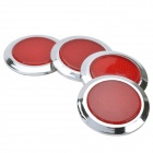 Hailis HL-3003 ABS Pegatina Redonda Advertencia reflectante para coches - Rojo (4 PCS)
